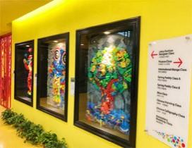 作品展览墙